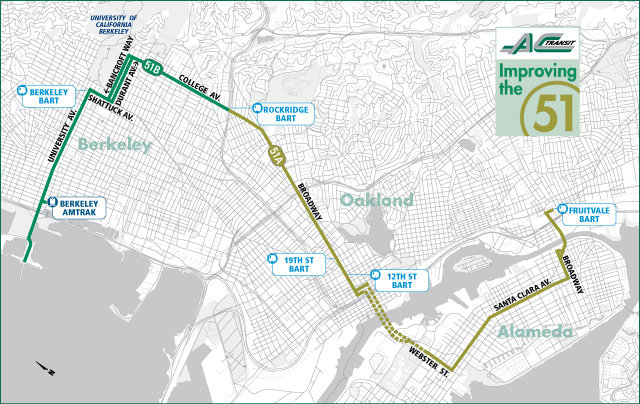 AC Transit Line 51 Corridor Delay Reduction and Sustainability Project